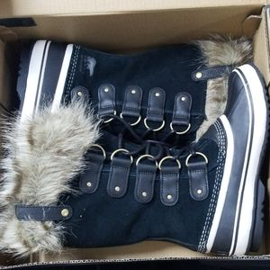 Sorel Joan of Arctic Black Stone Women Size 8